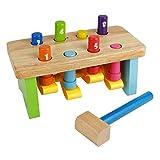 Nuheby Klopfbank Hammerbank Holzhammer Werkbank Holzspielzeug Kinder Pädagogisches Spielzeug ab 3 4 5 Jahren Mädchen Jung