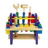 Nuheby Holzspielzeug Werkzeug Werkbank Werkzeugkasten Werkzeugkoffer Kinder Holz Pädagogisches Spielzeug Kinderspielzeug Mädchen Jungen Geschenke 3,4,5,6 Jahre,42 Stüc