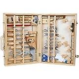 Werkzeugkoffer 'Deluxe' aus Holz, mit 48 Teilen für kleine Heimwerker ab 8 Jahren, das passende Werkzeug für die notwendige Reparatur