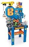 Smoby 360715 - Bob der Baumeister Werkbank-Center mit Kran, Kinderwerkbank, Kinderwerkzeug, ab 3 Jahren, Spielwerkbank, Spielzeug