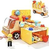 TOP BRIGHT Autospielzeug Lastwagen Spielwerkzeug für Kinder, Geschenke für Jungen ab 2 Jahr