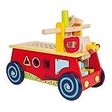 """Motorikwagen """"Werkbank"""" aus Holz, mit allerlei Zubehör, vielseitiger Spielspaß und motorisches Lernen garantiert, ab 2 Jahr"""