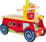 small foot 1595 Motorikwagen 'Werkbank' aus Holz, mit allerlei Zubehör, Spielspaß und motorisches Lernen, ab 2 Jahr